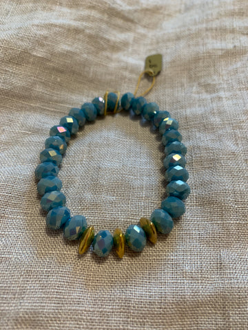 Frosty Blue Crystal Bracelet