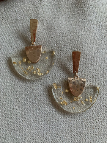 Mod Gold Leaf Earrings