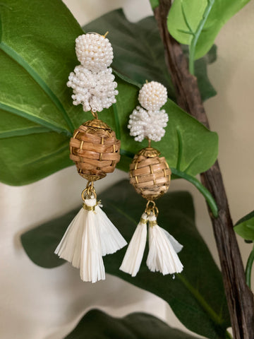 Beached Bliss Earrings- White