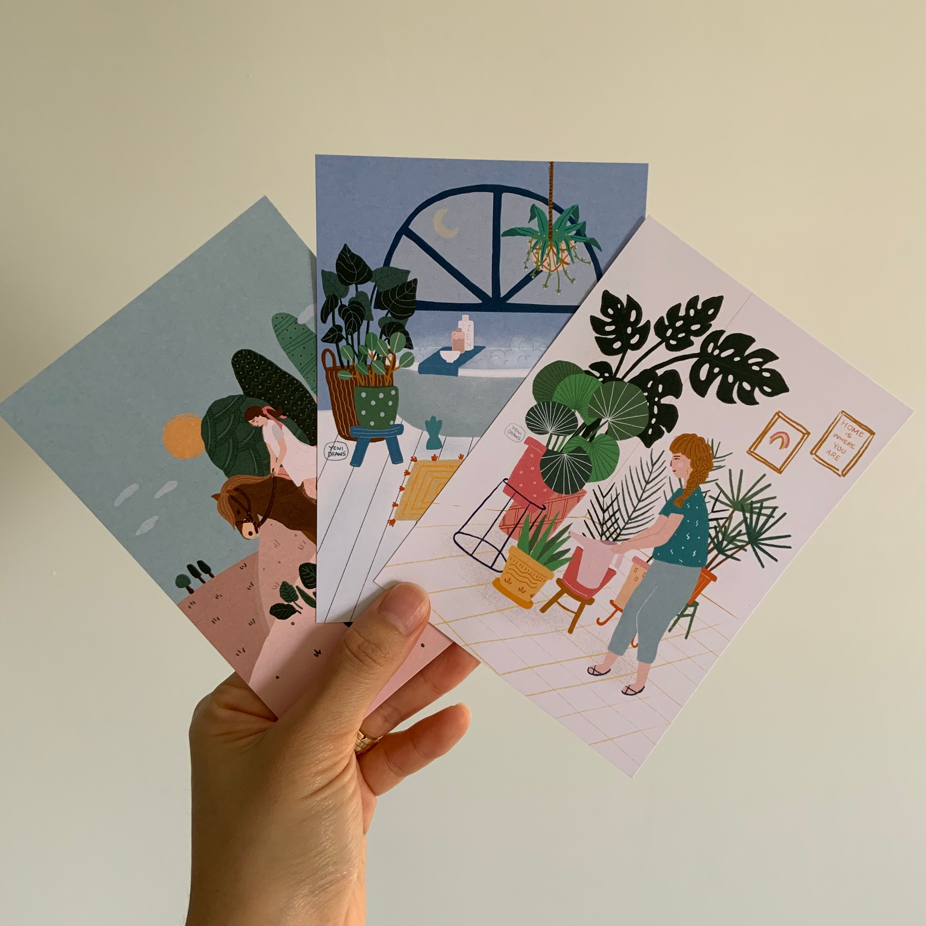 Yenni Draws Exclusive Postcards