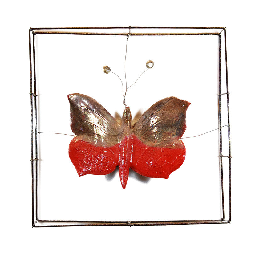 Ceramic Red Butterfly