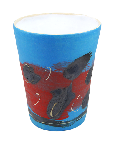 Blue & Red Big Cup