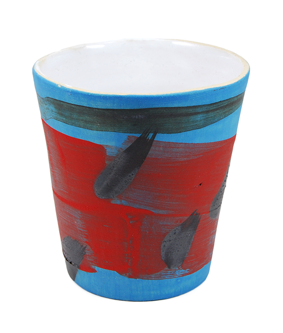 Blue & Red Medium Cup
