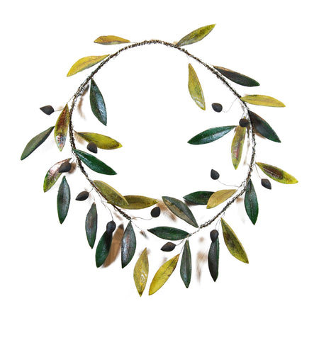 Ceramic Big Olive Tree Wreath