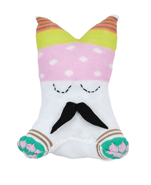 Pink with White Dots Small Sock Monster