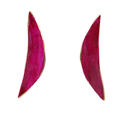 Fuchsia Leaves Earrings by Victoria