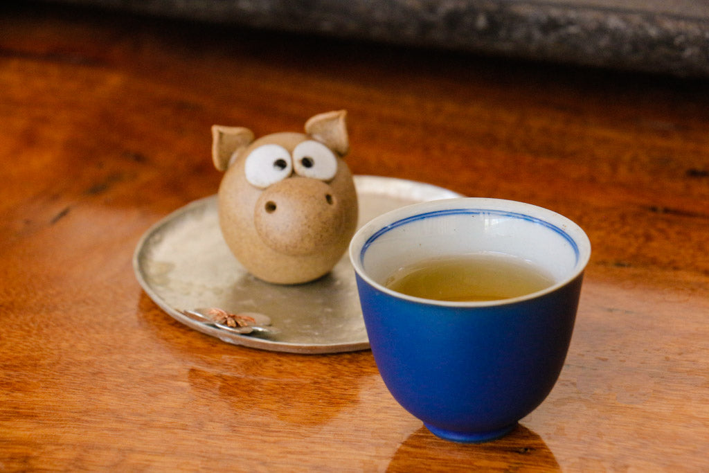 yiwu tea in cup