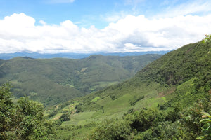 hilly landscape in yunnan