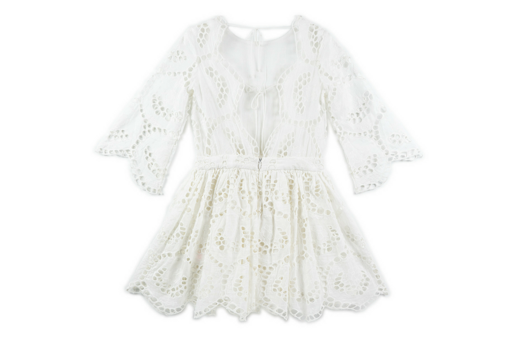 Closing Scene Cotton Dress - Ivory