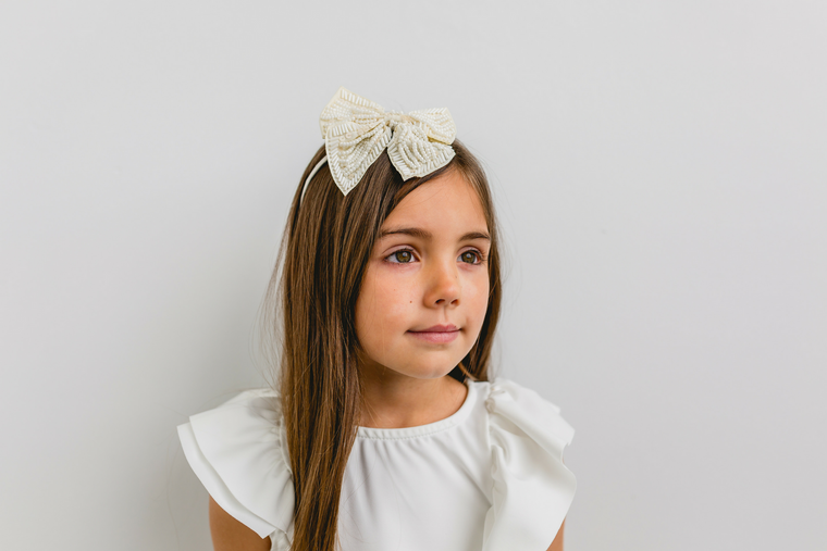 Beaded Bow - Headband