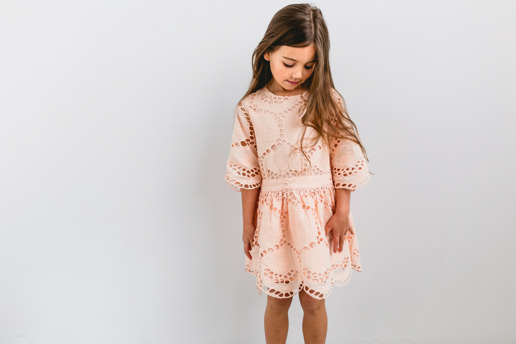 Closing Scene Cotton Dress - Blush