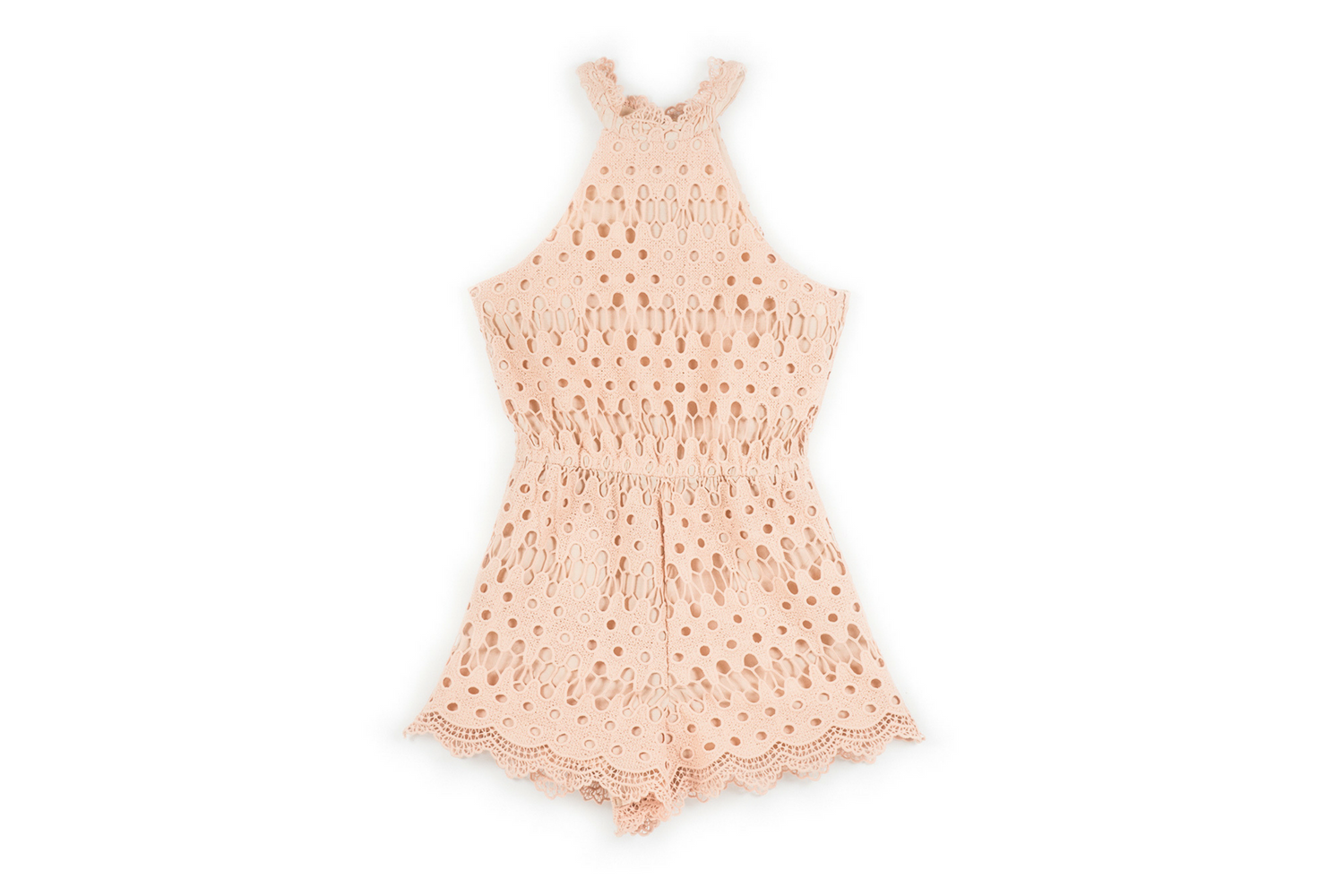 Pretty Lace Romper - Blush