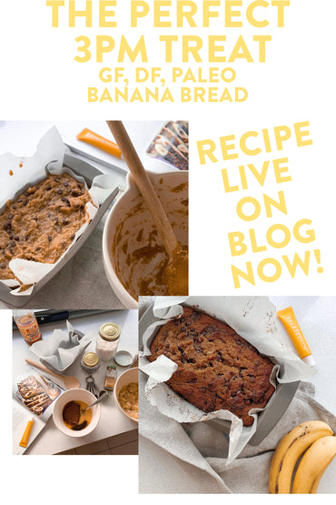 The perfect 3pm treat // GF, DF Banana Bread