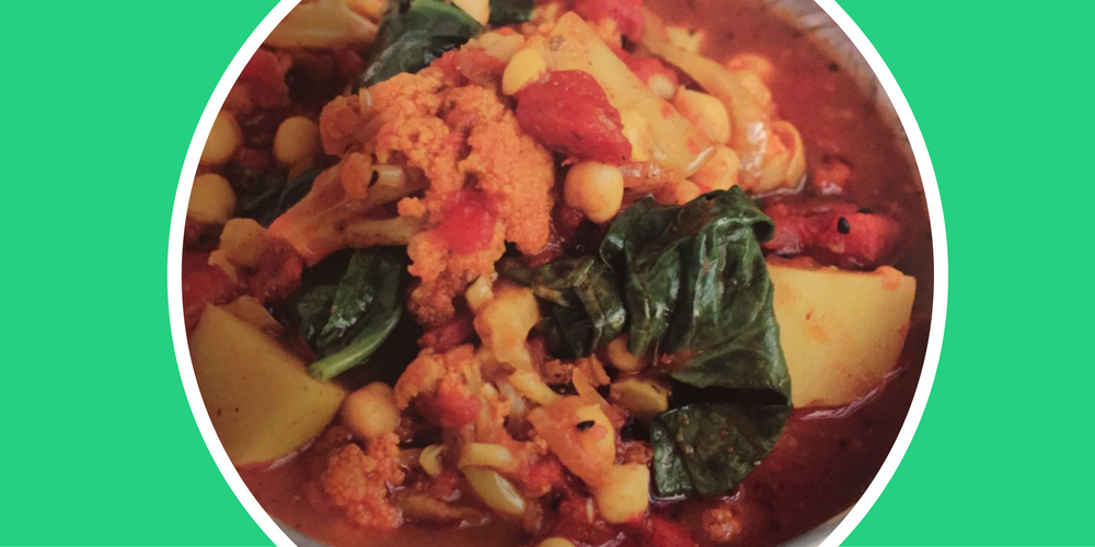 Vegetable Curry (potato, chickpea and cauliflower)
