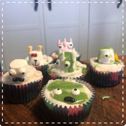 Monster Halloween Cup Cakes