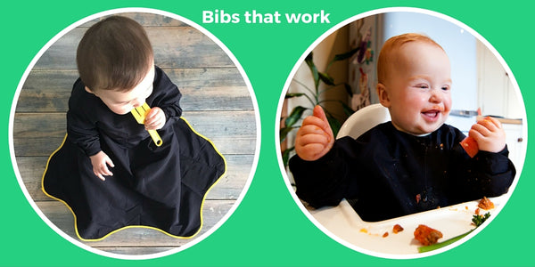 Baby weaning bibs that work