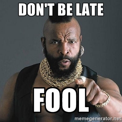 Mr T dont be late