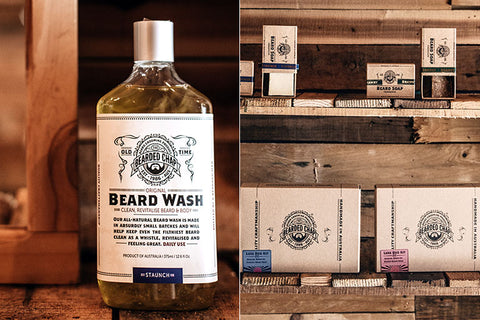 The Bearded Chap Beard wash and Beard soap gift packs