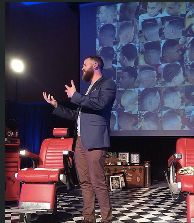 Luke Swenson CEO & Founder of The Bearded Chap presenting