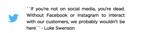 Luke Swenson Social media quote