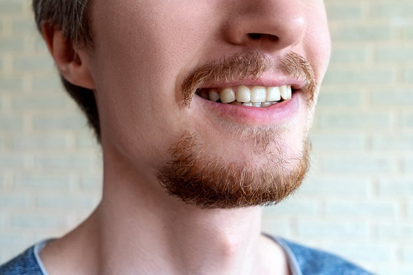 close-up of a bearded man