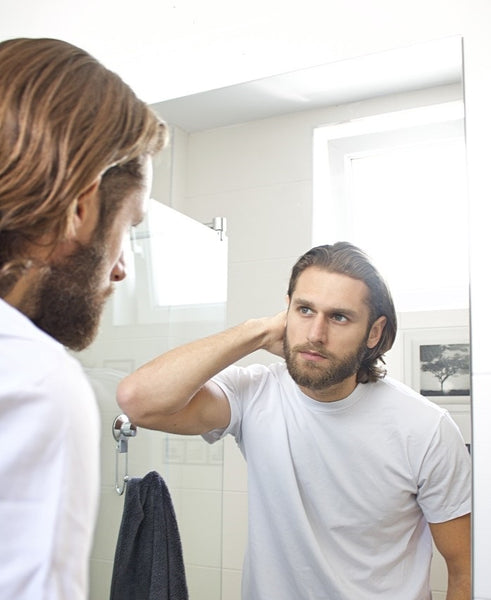 man with straight hair