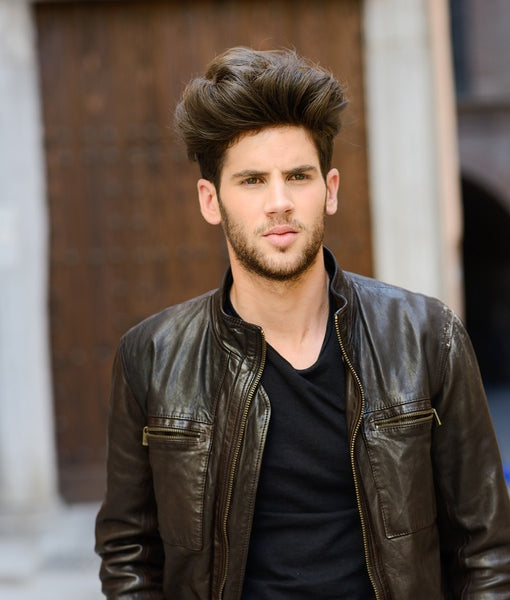 Young man with healthy hair