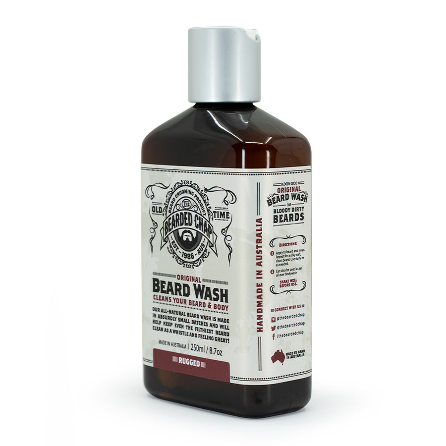Rugged Original Beard Wash - The Bearded Chap Australian made grooming products