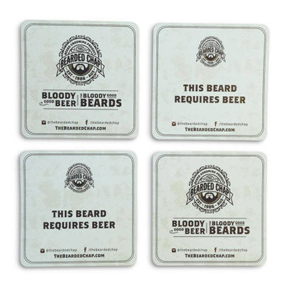 The Bearded Chap Beer Mats 20 Pack - The Bearded Chap