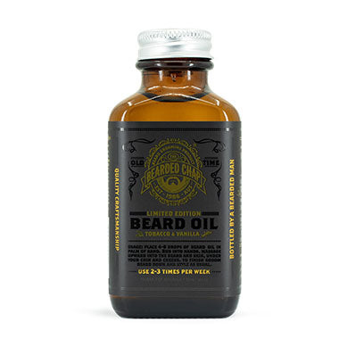 Limited Edition Tobacco & Vanilla Beard Oil - The Bearded Chap Australian made grooming products