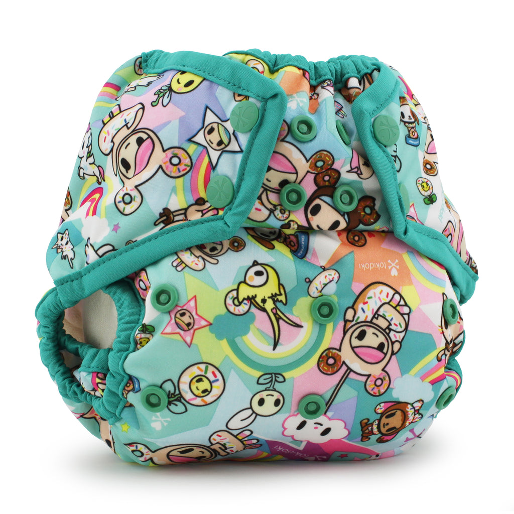 Tokidoki x Kanga Care Rumparooz Cloth Diaper Cover - TokiSweet (Peacock trim)