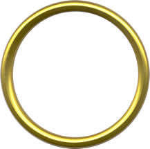 Aluminium Sling Rings - Gold (1 pair) - Baby Buys