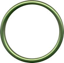 Aluminium Sling Rings - Green (1 pair) - Baby Buys