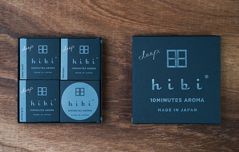 Hibi Deep Gift Box of 3 Fragrances and Burning Pad