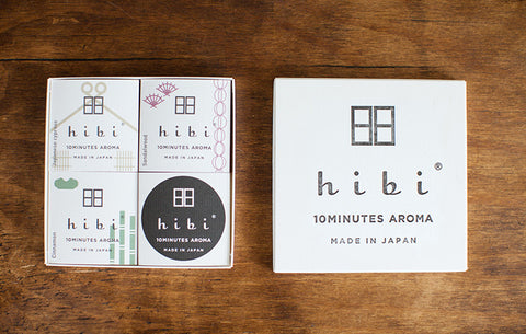 HIBI 10 minute incense Gift Collection 3 fragrances