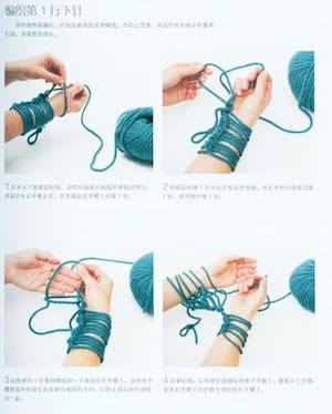 Buku knit tangan Use only arms and fingers knit fashion item 35.