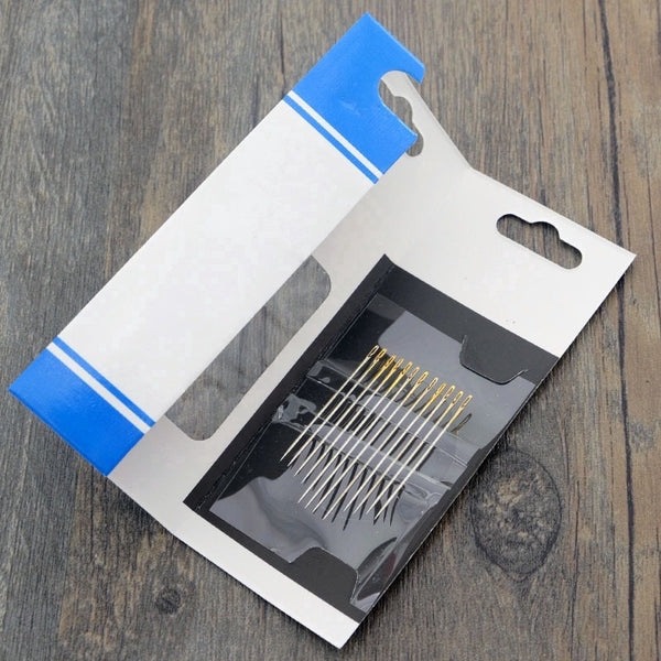 Jarum Jahit Butang Magic. 12Pcs Self-Threading Needles Set
