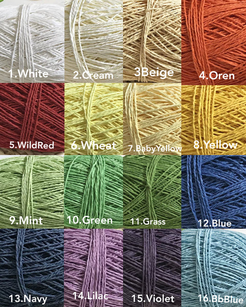 Benang Straw Yarn (Lowstock this week)