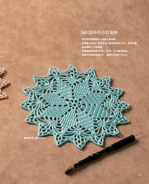 Buku crochet retro lace woven book.