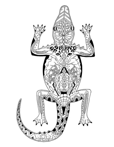 The Crocodile Song - Sue Coccia coloring page download