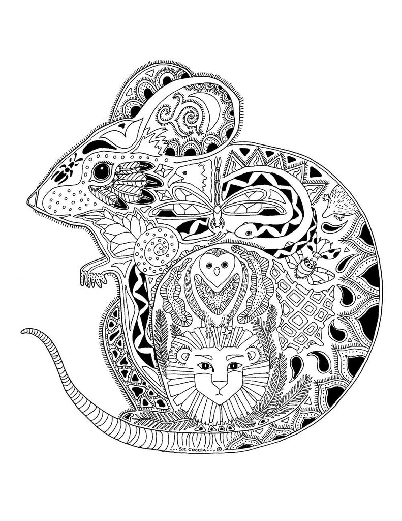 The Tiny Mouse - Sue Coccia coloring pages
