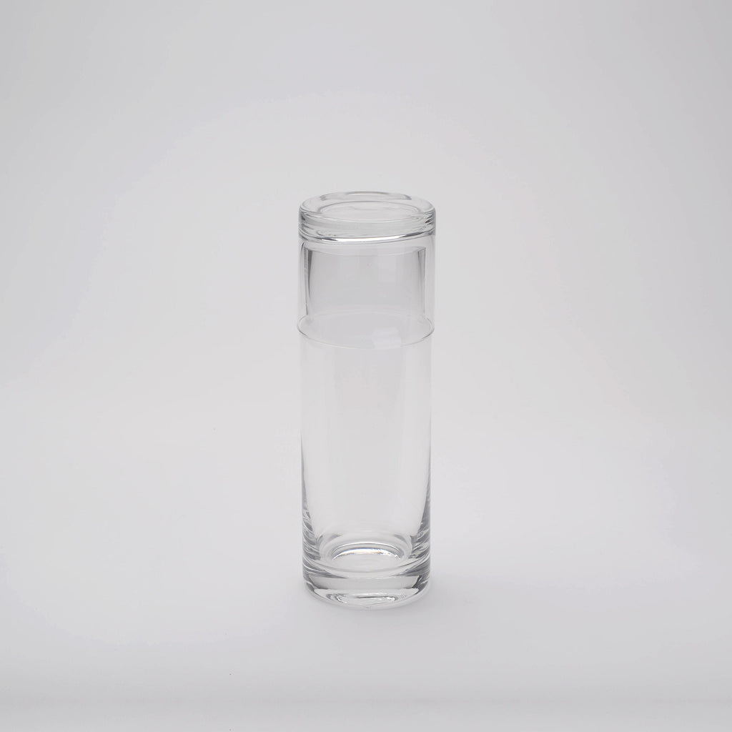 Cylindrical Glass Bottle with Glass Cap