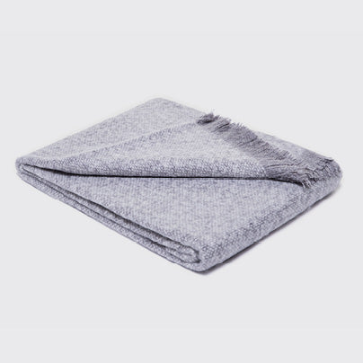 Biederlack blanket Light Blue