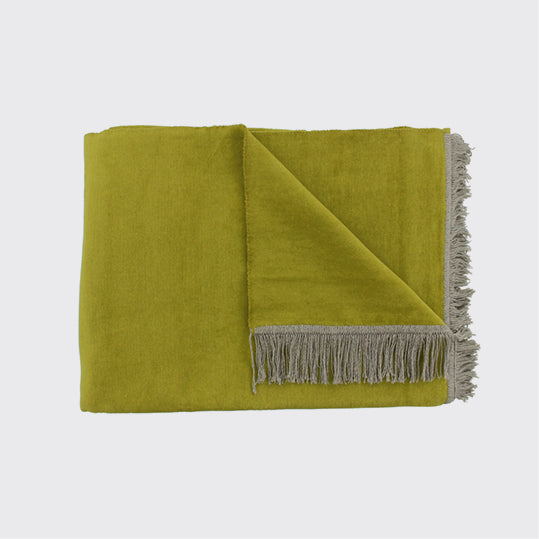 Claudi - Plaid Plagia Lime