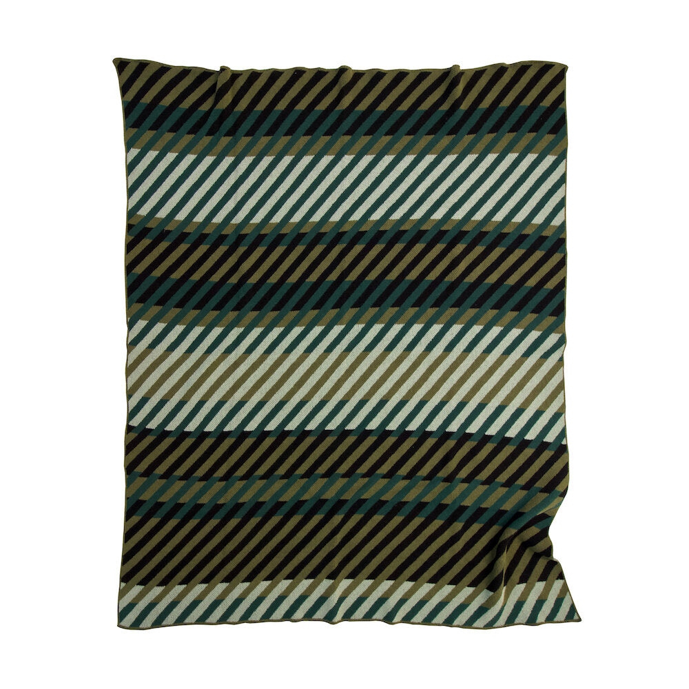 ECO COTTON THROWS - PATTERN2-GREEN