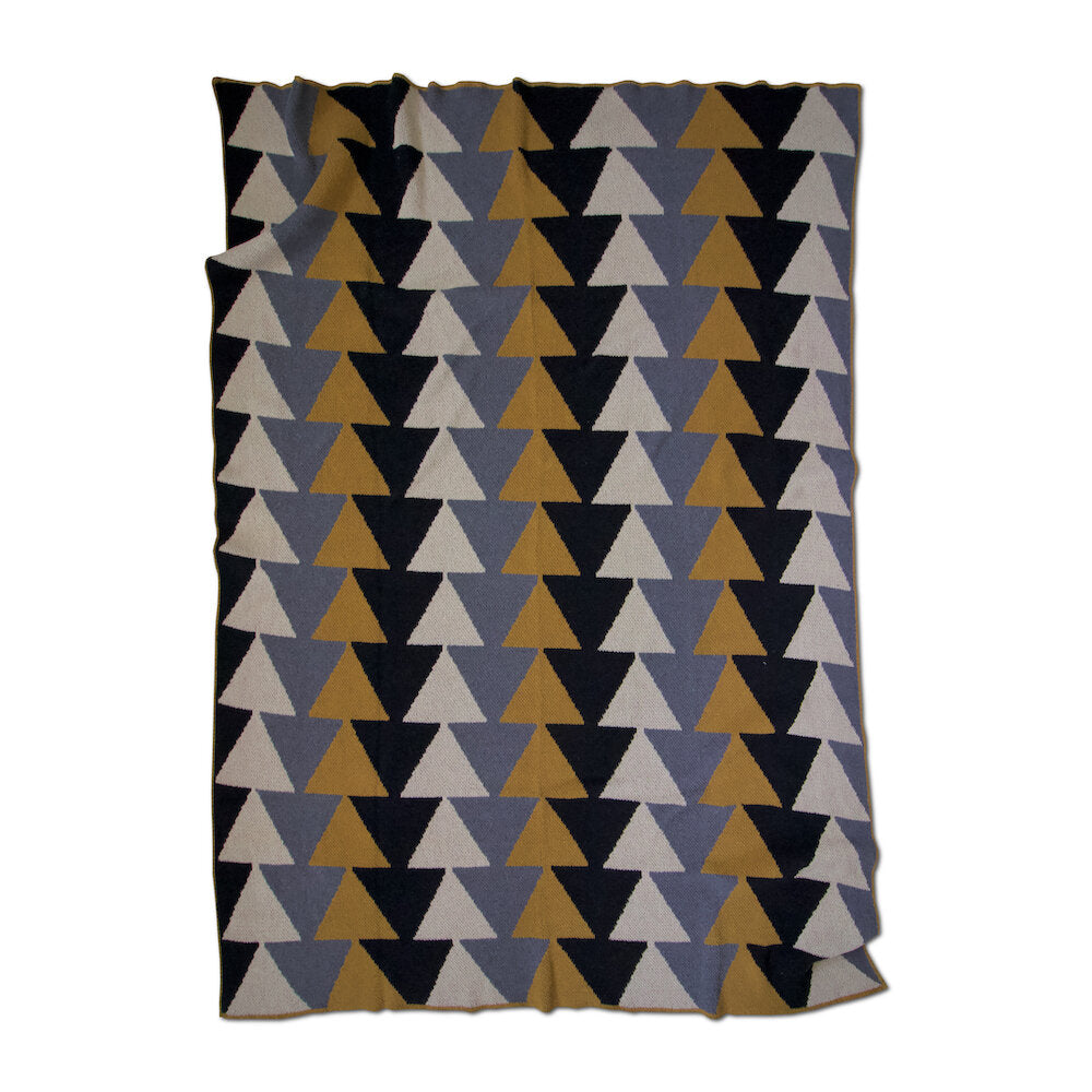 ECO COTTON THROWS - stacked-ochre