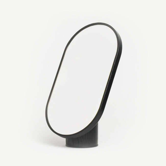 Woodturn Mirror - black