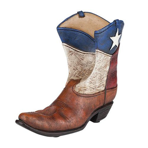 front view lone star cowboy boot bottle holder horse gift at horse lane