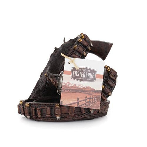 Packaging for the western holster wine bottle holder gift for horse lovers at horse-lane.com