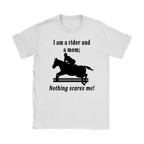 "Ladie's Classic Tee Shirt, ""Nothing Scares Me"""